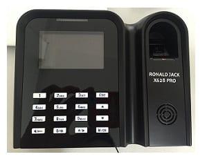 máy chấm công vân tay và thẻ cảm ứng từ ronald jack x628pro digiplus.vn