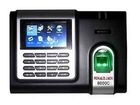 máy chấm công vân tay và thẻ từ ronald jack 8000c digiplus.vn