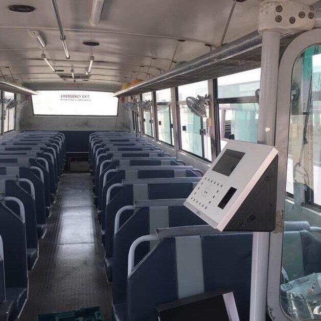 Thiết bị ứng dụng quẹt thẻ từ trên xe bus-xe khách-xe đưa đón học sinh