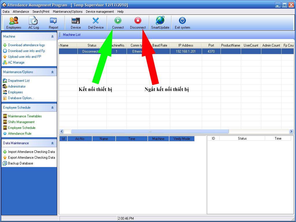 phần mềm chấm công zkteco 5.0