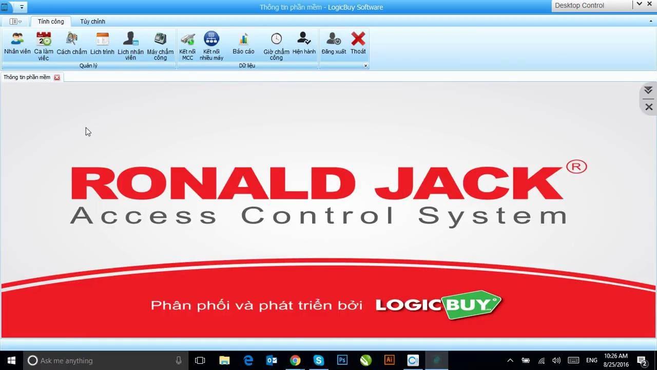 phần mềm chấm công Ronald Jack Pro