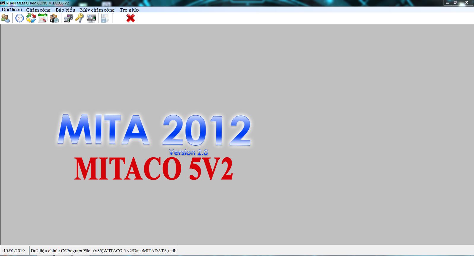 Phần mềm chấm công mitaco 5v2 2012