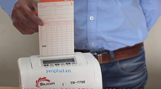 Hướng dẫn sử dụng máy chấm công thẻ giấy