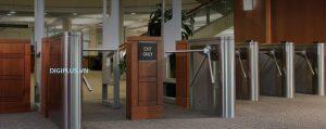 hệ thống kiểm soát ra vào bằng Cổng xoay ba càng Tripod Turnstile tại khách sạn